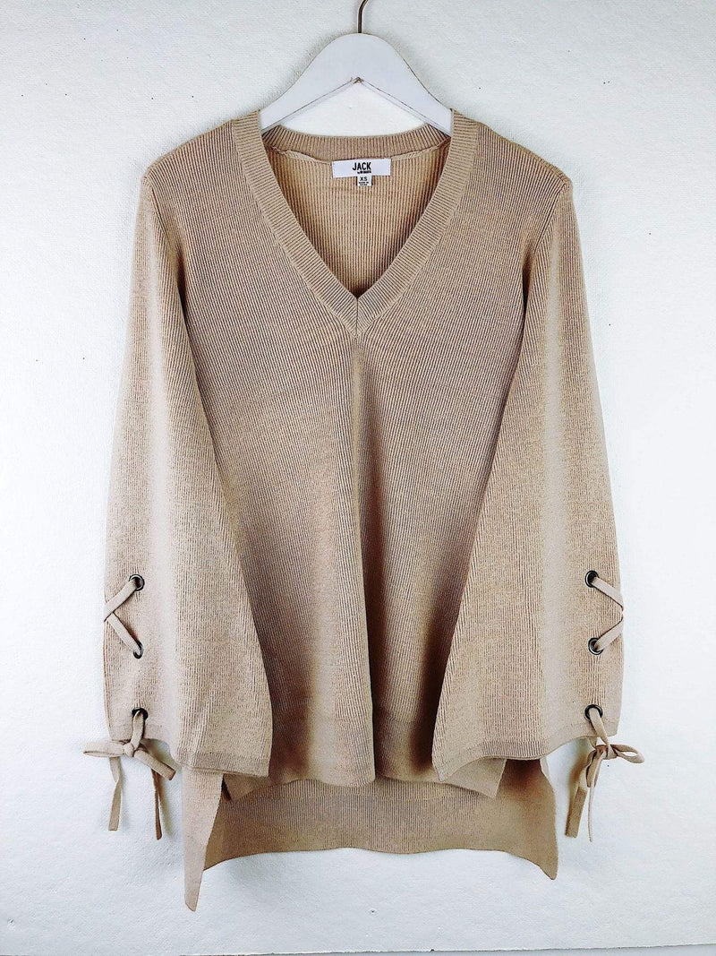 Jack / BB Dakota Sweater Small / Oatmeal / JI406426 Sleeve It To Me Sweater Oatmeal
