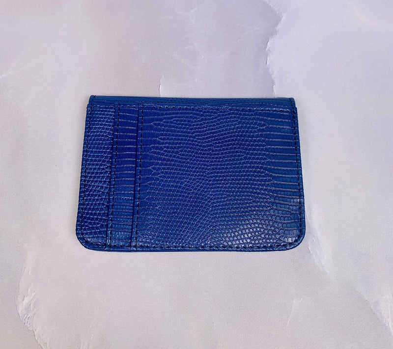 JDA Bags Bag One Size / Blue / GC1039 Snake Mini Wallet Blue