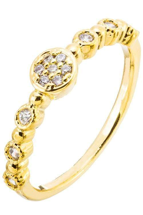 Jewel Vault Ring Pave Disc Ring