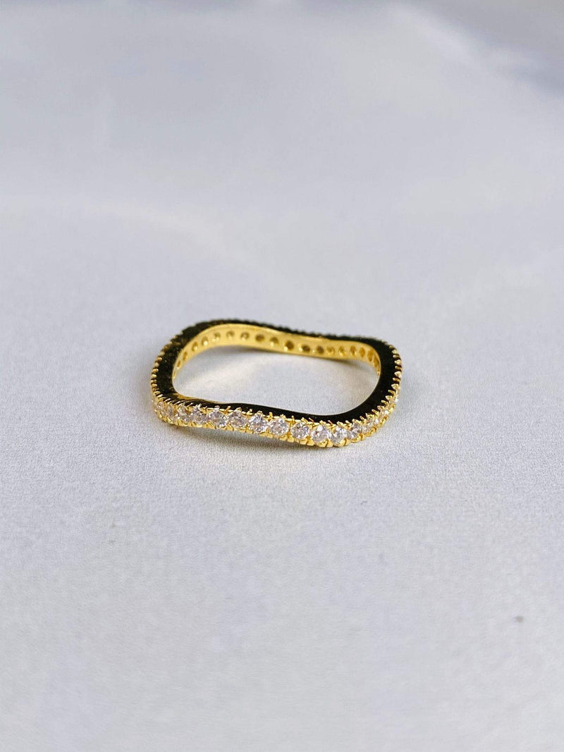 Jewel Vault Ring Size 6 / Gold / RJ4203RH Adia Diamond Pave Ring Gold