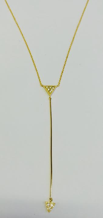 Jewelry House Necklace Triangle Point Necklace