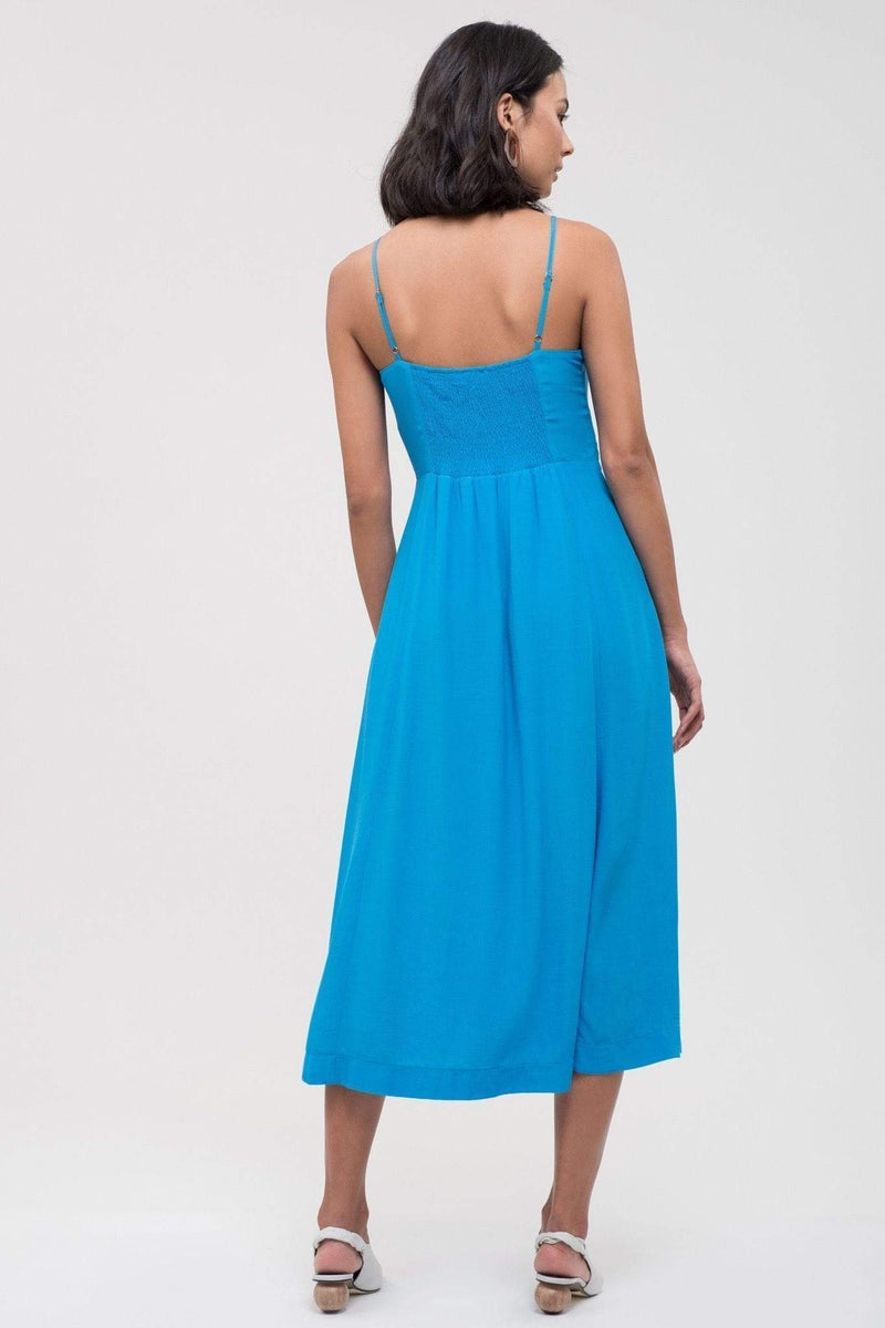 Woven Double Maxi Dress - Light Blue