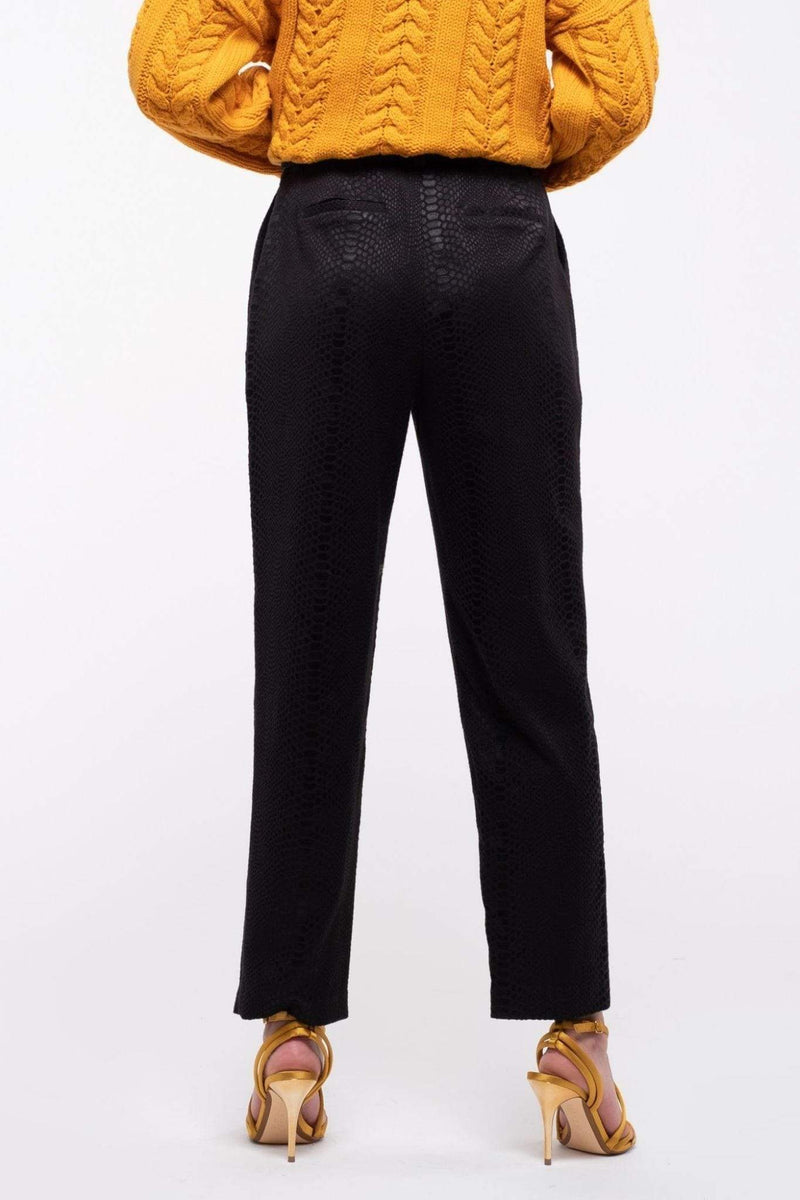Joa Pants Pleated Pants with Belt Black