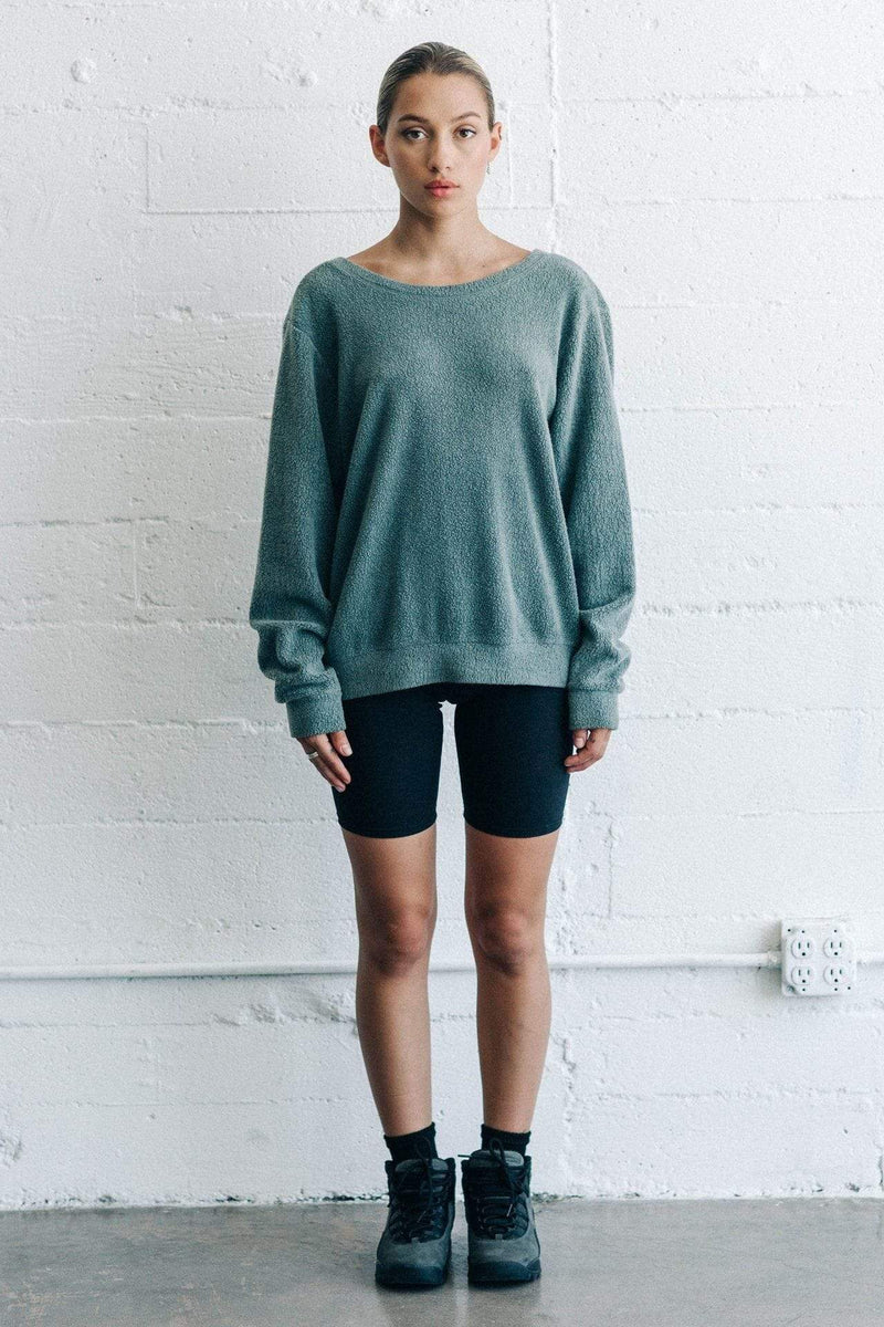 Joah Brown Sweater Get It Pullover Evergreen Sherpa