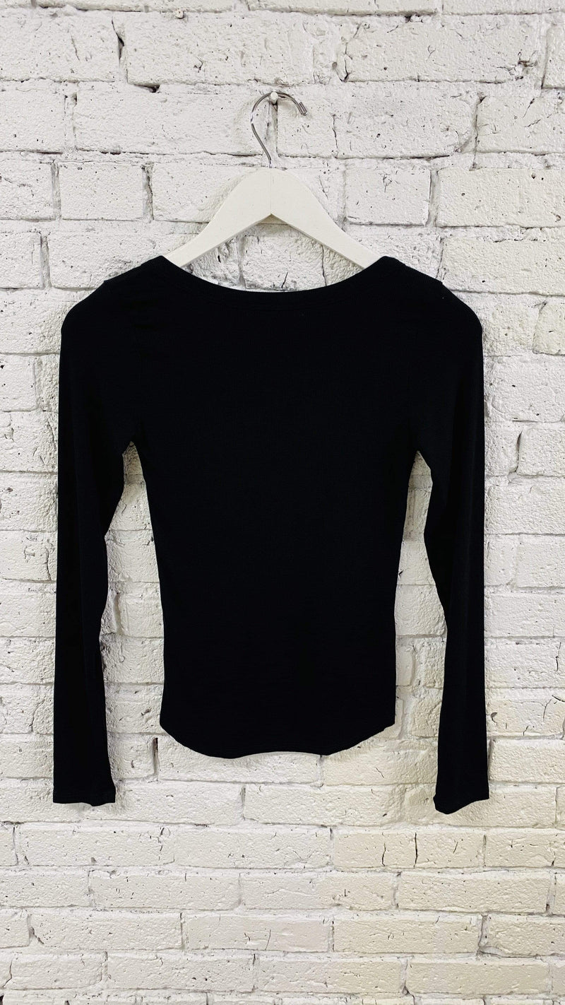Joah Brown Tee Casuals My Main Henley Heavy Black Rib