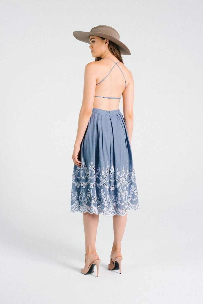 Carrol Cotton Eyelet Halter