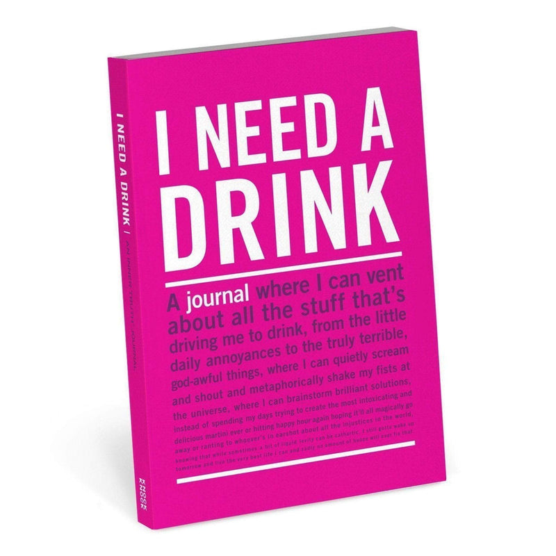 Knock Knock Gift One Size / multi / 50155 I Need a Drink Mini Inner-Truth Journal