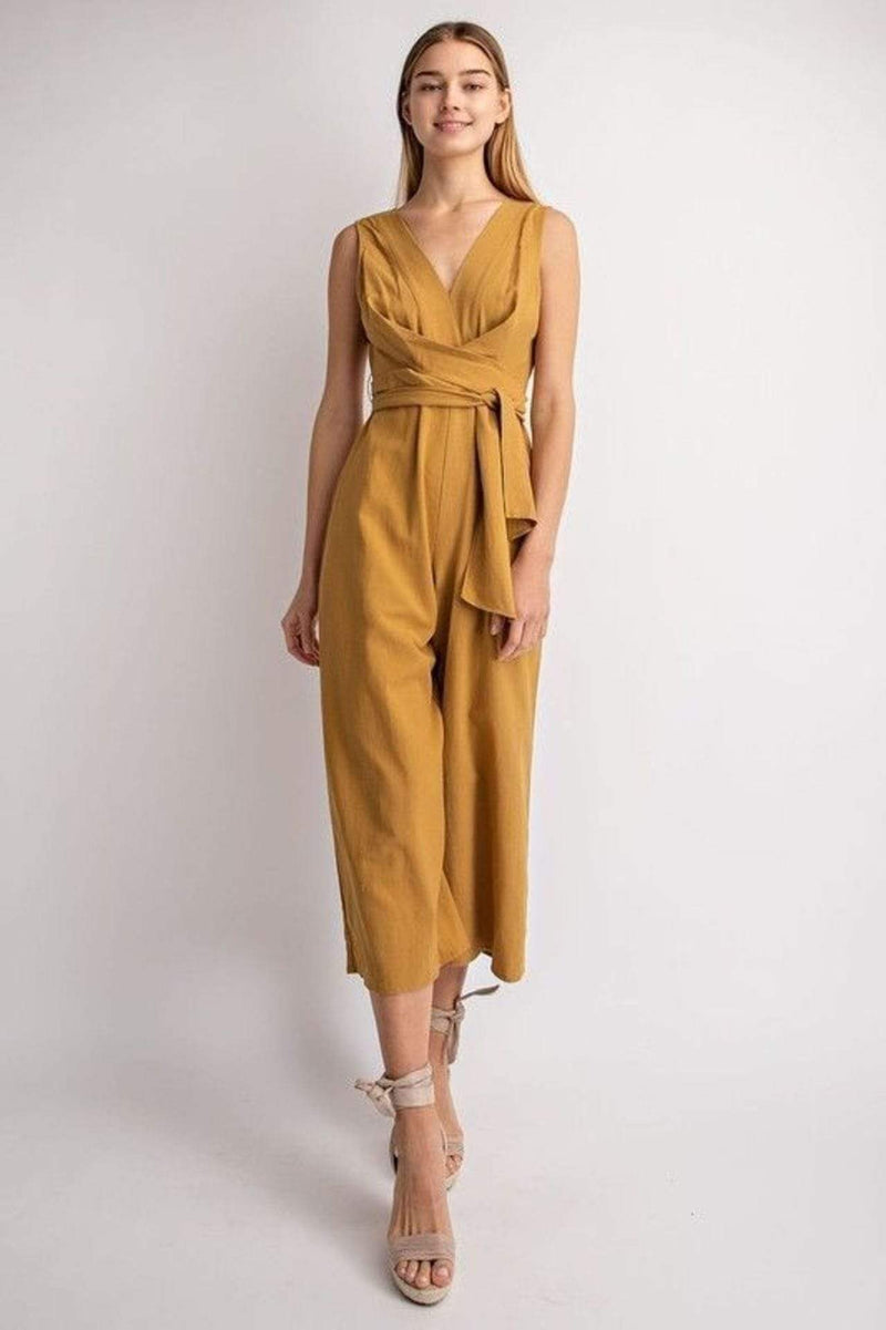Le Lis Dress Large / Mustard / MP3063 Claire Jumpsuit Mustard