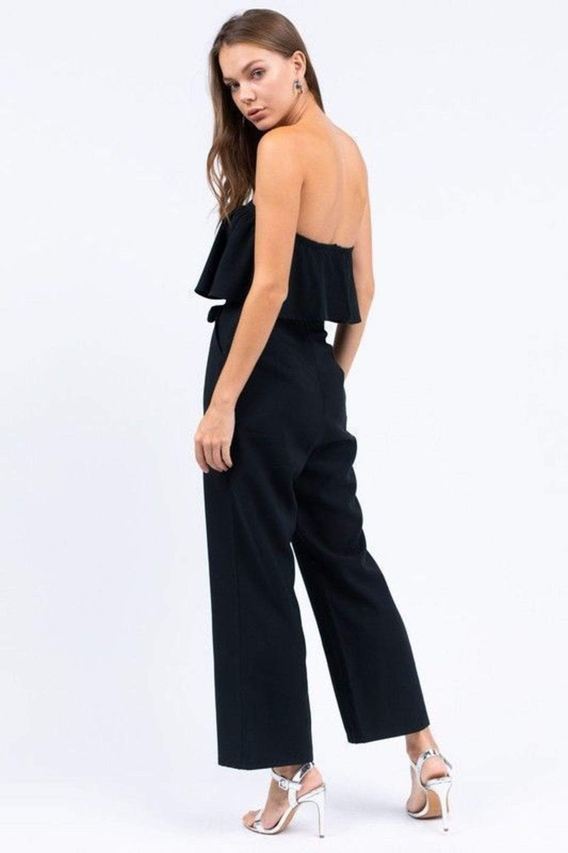 Le Lis Dress Thea Strapless Jumpsuit Black