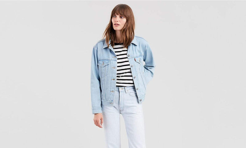 Levi Jacket Small / Light Denim / 29944-0057 Soft As Butter Ex Boyfriend Trucker Jacket