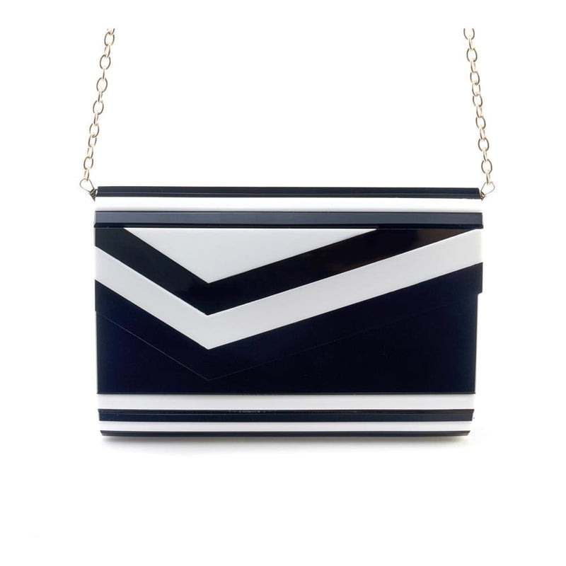 Like Dreams Bag One Size / Black/White / VY0381 Arden Colorblock Clutch