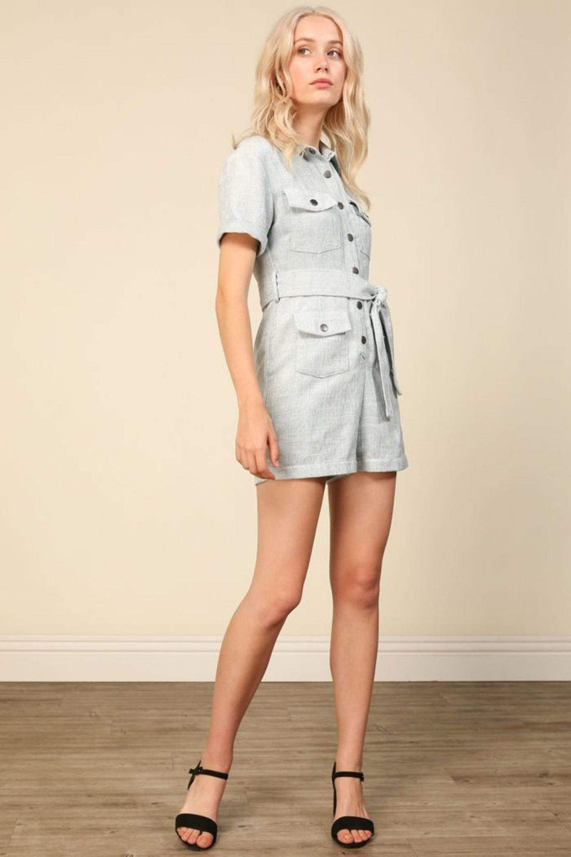 Line and Dot Dress Femme Romper