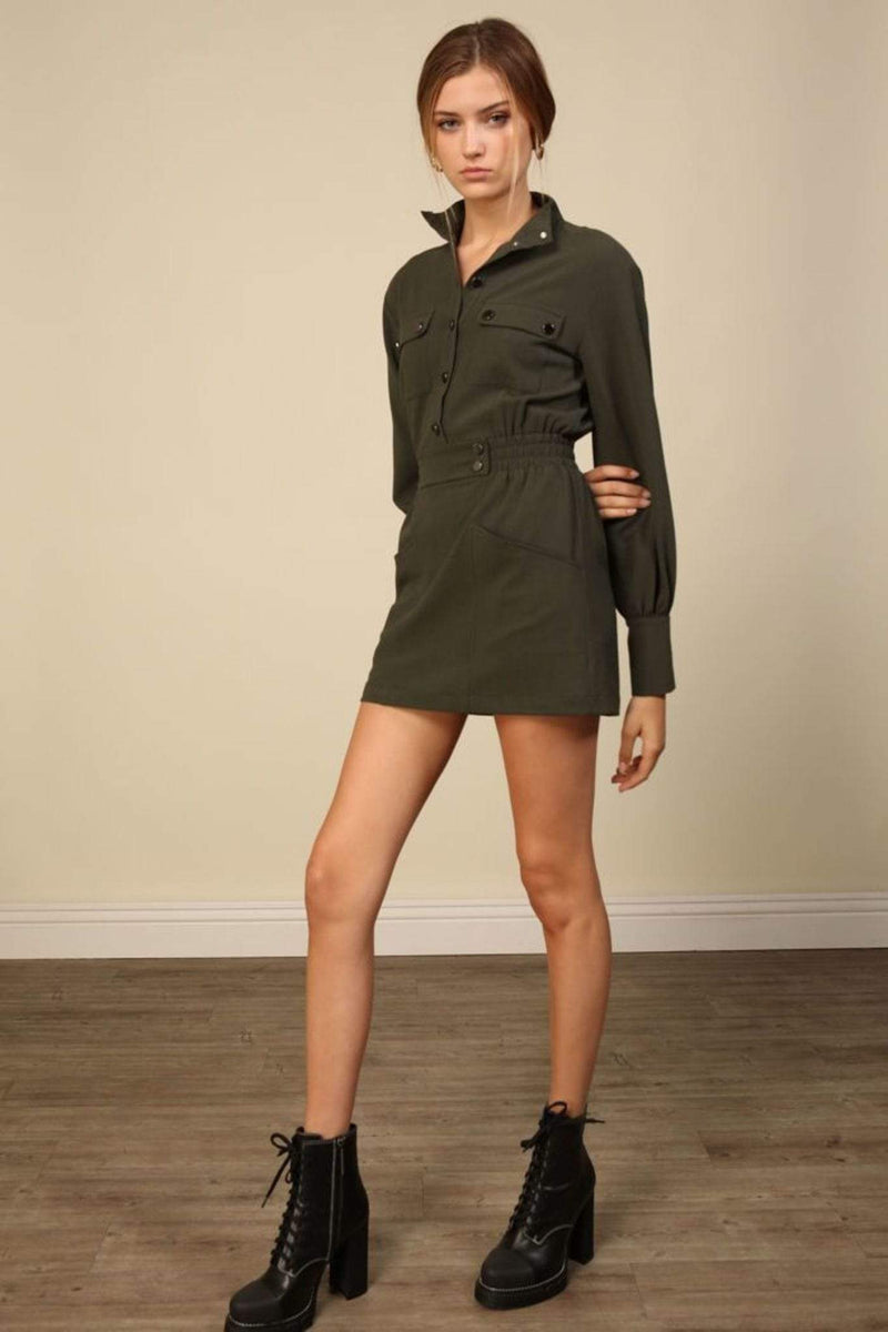 Poppy Mini Dress Olive