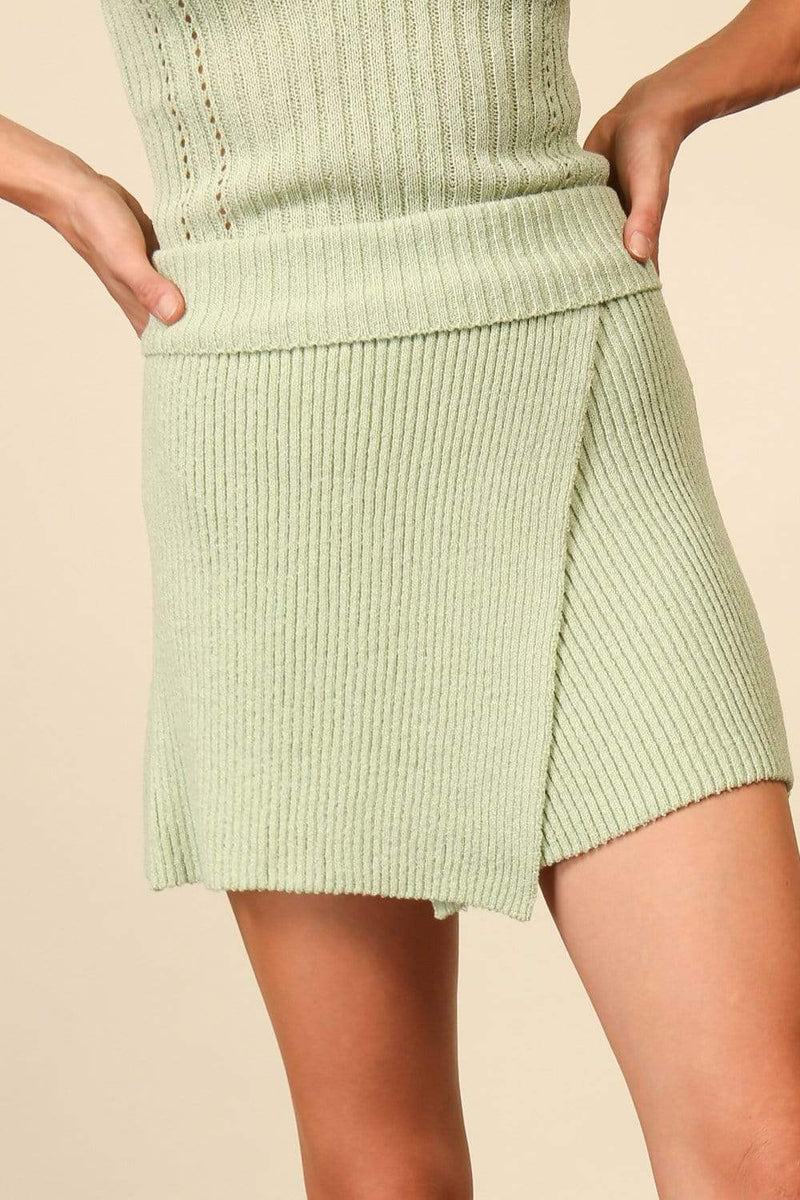 Olivia Sweater Skirt Sage