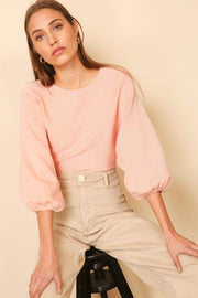 Line and Dot Sweater Al Fresco Sweater Blush