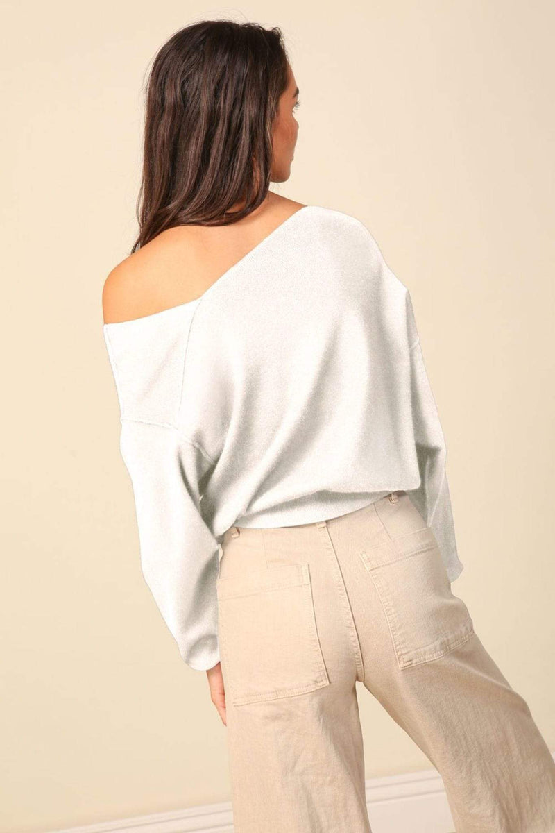 Favorite Off the Shoulder Sweater White