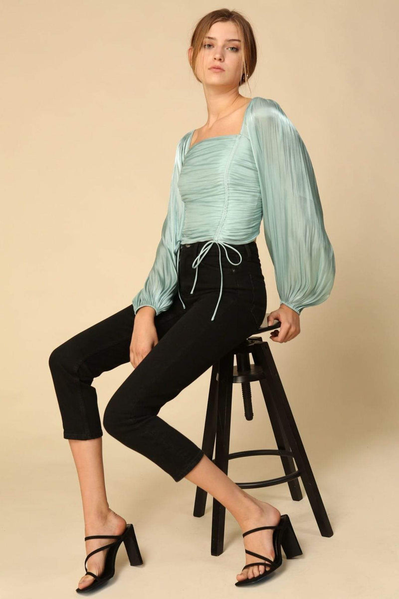 Line and Dot Tops Blouse Peyton Top Mint