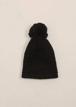 Look By M Accessories One Size / Black Selena Pompom Hat Black
