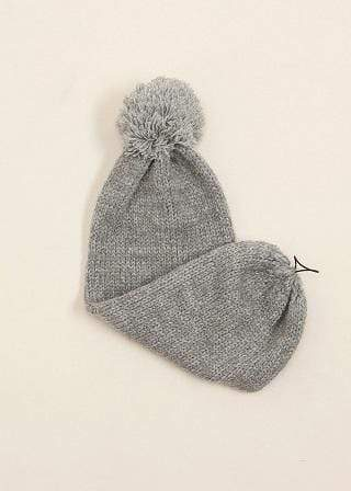 Look By M Accessories One Size / Grey Selena Pompom Hat Grey
