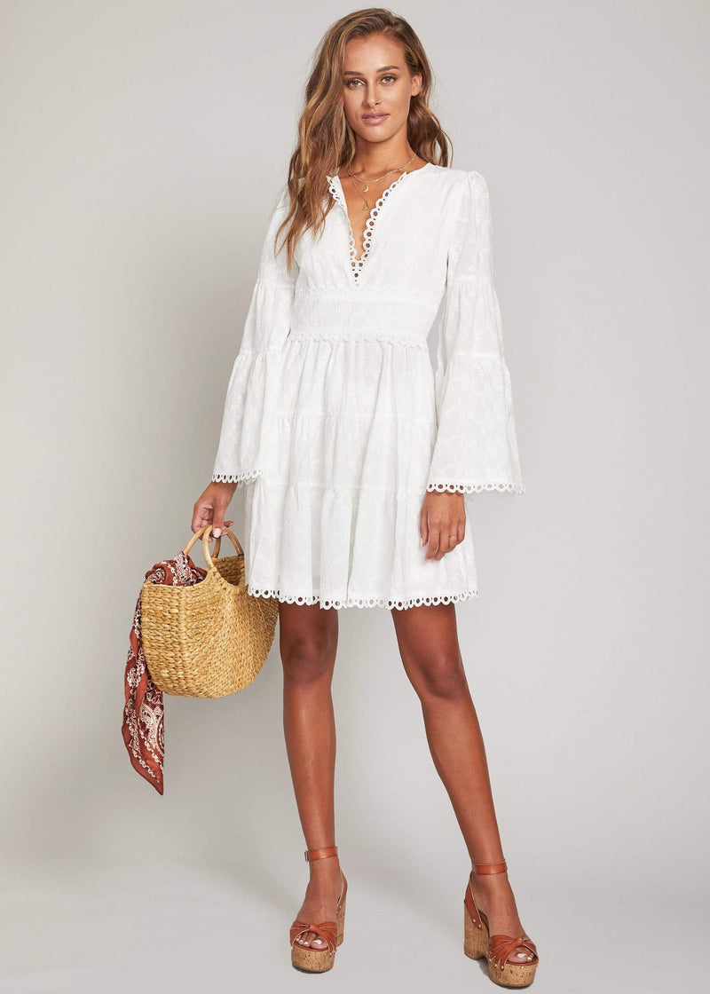 Angel in Disguise Mini Dress White