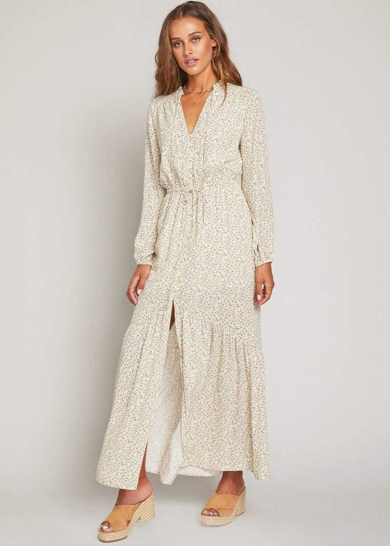 Lost + Wander Dress Sweet Simplicity Floral Maxi Dress Yellow/Cream