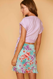 Lost + Wander Skirt Small / Lavender Mint / WSWJM6060 Flower Power Mini Skirt Lavender Mint