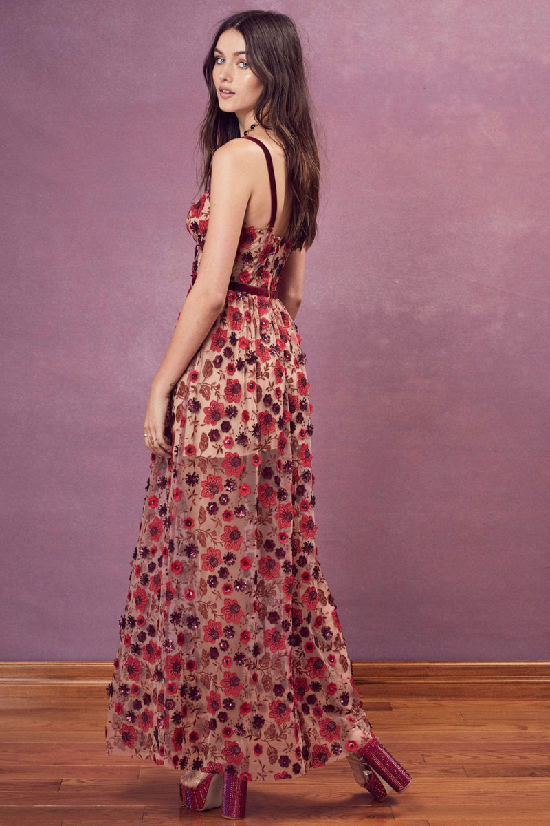 Love & Lemons Dress Beatrice Strappy Maxi Dress