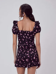Love & Lemons Dress Laramie Floral Mini Dress Lavender