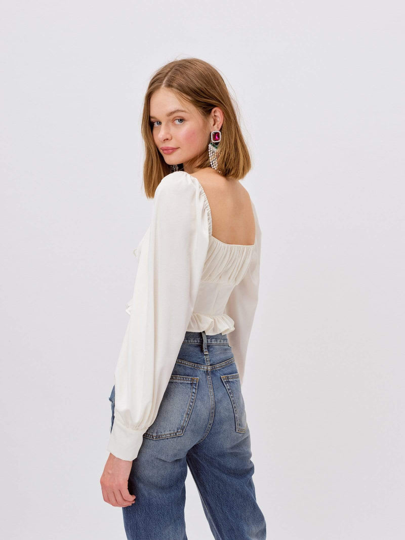 Love & Lemons Tops Blouse Carina Blouse Ivory