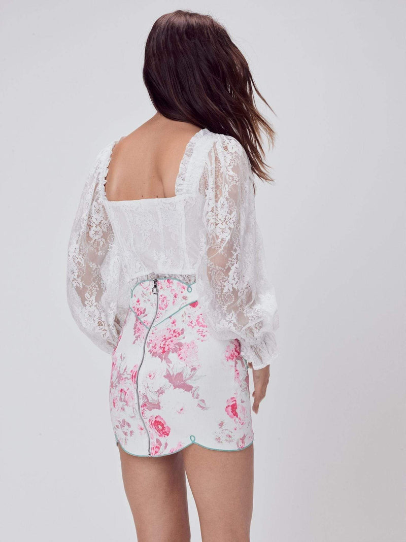 Love & Lemons Tops Blouse Cheyenne Lace Bustier Top Ivory