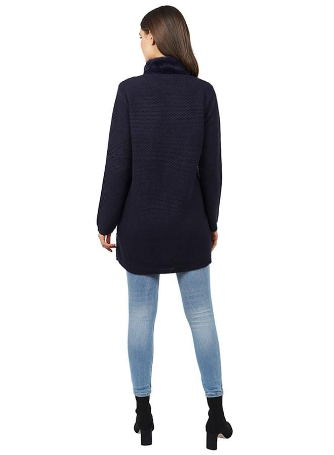 Peter Suede Jacket Navy