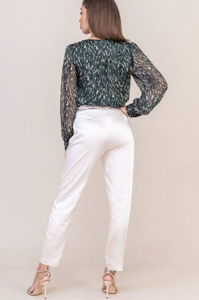 Willa Satin Pants Cream