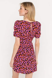 Lush Dress Aria Square Neck Mini Dress Black/Pink