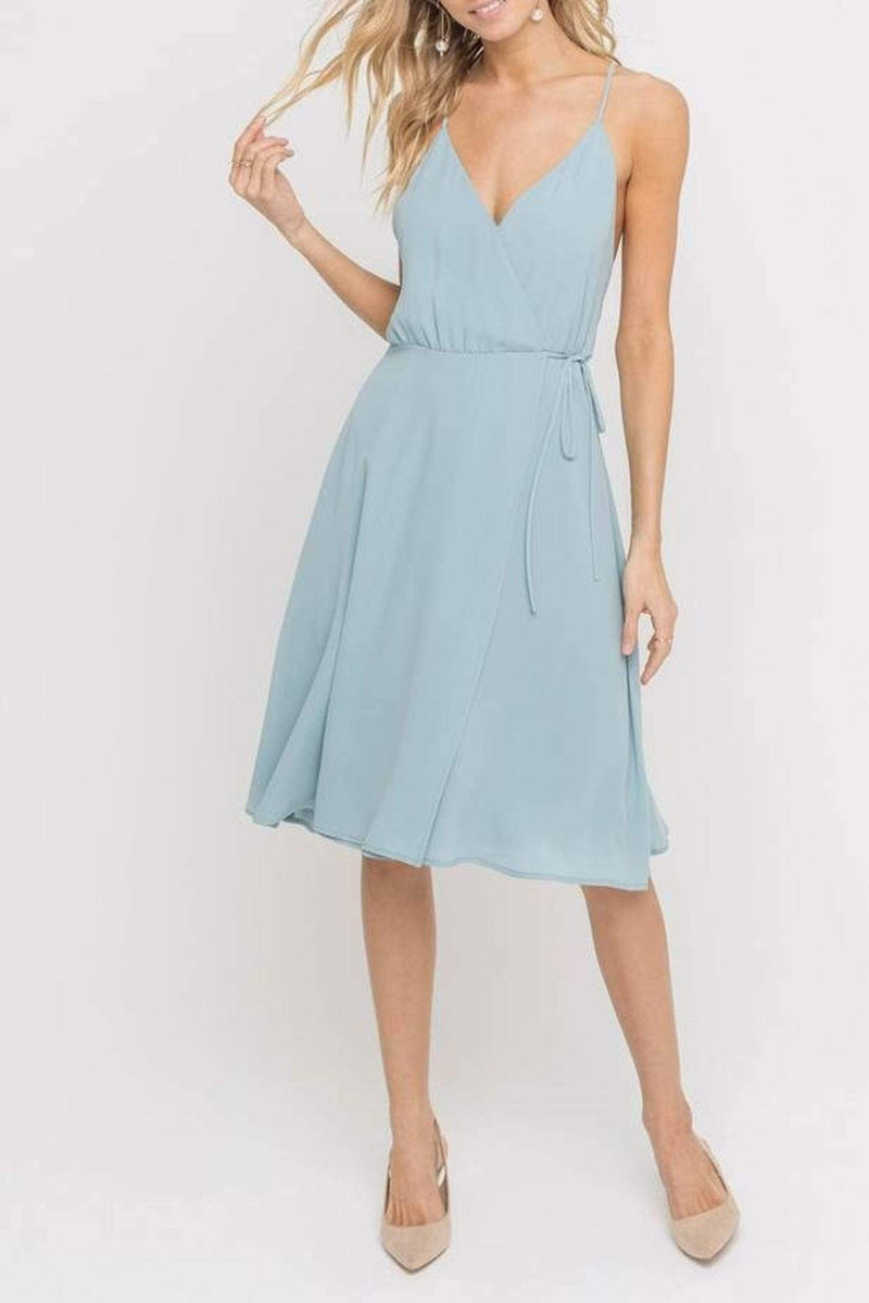 Lush Dress Delphine Side Tie Dress Arona Teal