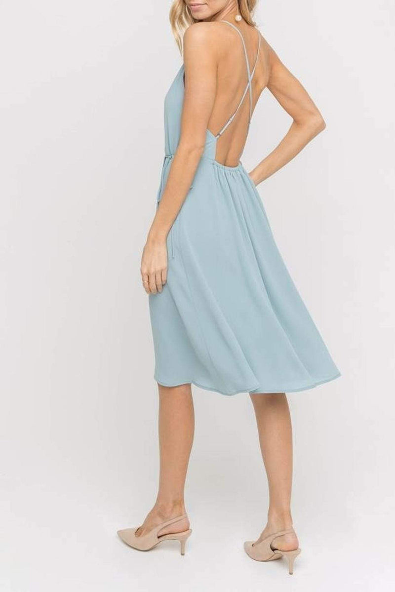 Lush Dress Medium / Arona Teal / DR95843-I Delphine Side Tie Dress Arona Teal
