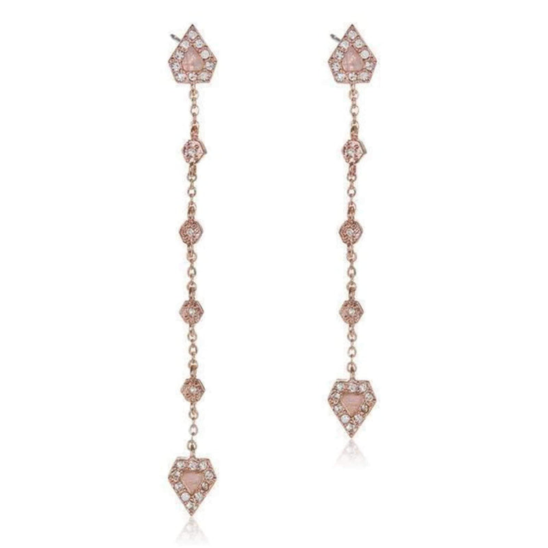 Luv Aj Earring Moonstone Chain Drop Earrings