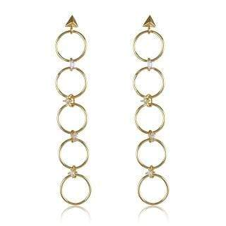 Luv Aj Earring One Size / Gold / FW17E-SGLE-G Scattered Gem Loop Earrings Gold