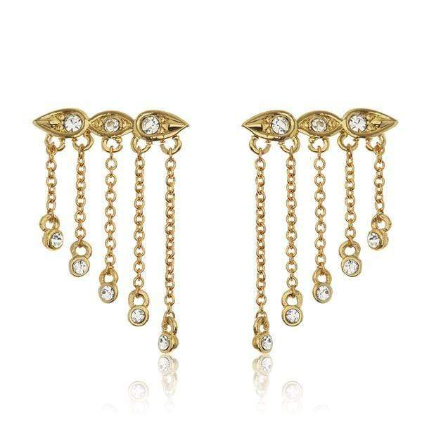 Luv Aj Earring One Size / Gold / SM17E-PCDE Posie Dangle Crawler Earrings