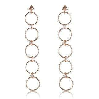 Luv Aj Earring One Size / Rose Gold / FW17E-SGLE-RG Scattered Gem Loop Earrings Rose Gold