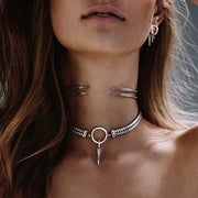 Luv Aj Necklace Hanging Spike Choker
