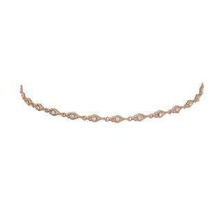 Luv Aj Necklace One Size / Rose Gold / HOL17N-DSLC-RG Disco Stud Link Choker Rose Gold