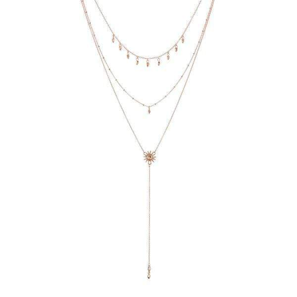 Luv Aj Necklace One Size / Rose Gold / SM18N-SL-RGRose GoldO/S The Sunburst Lariat