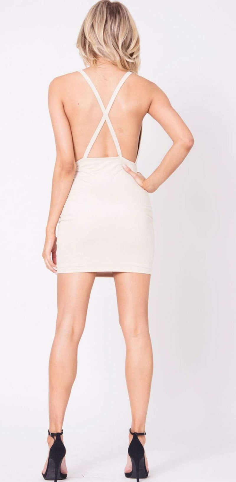 Ashleigh Suede Dress Nude