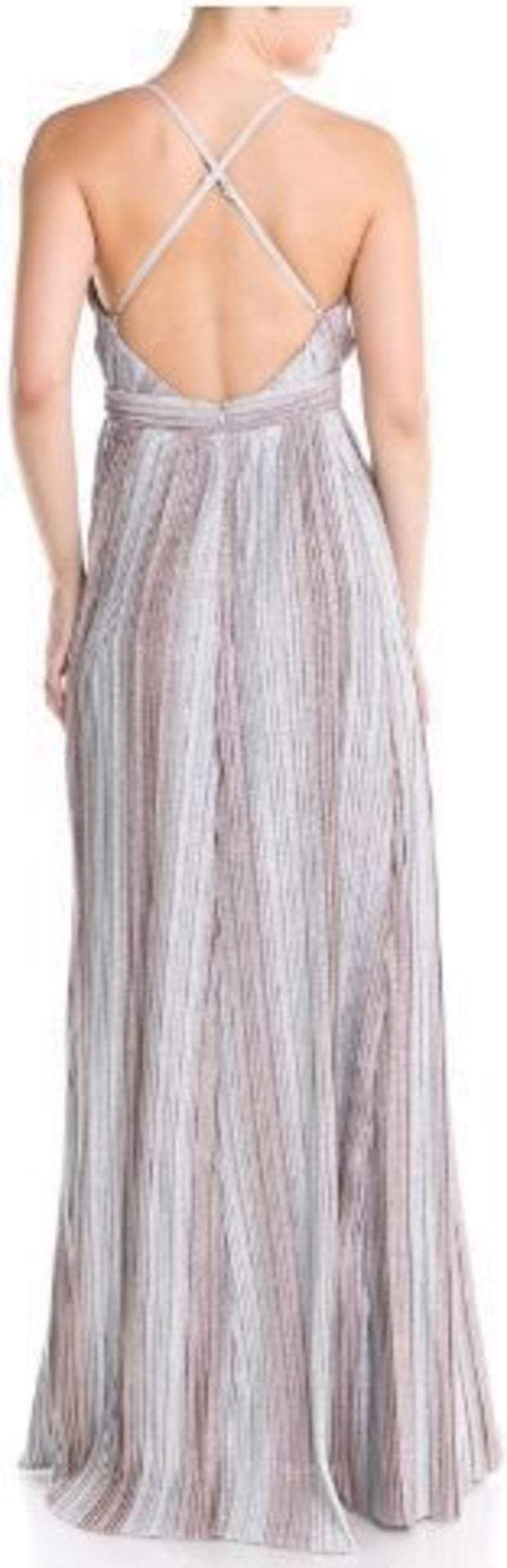 Luxxel Dress Metal Ombre Maxi Dress Silver/Bronze