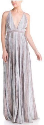 Luxxel Dress X Small / Silver/Bronze / LD5131-SLV-BRNZ Metal Ombre Maxi Dress Silver/Bronze
