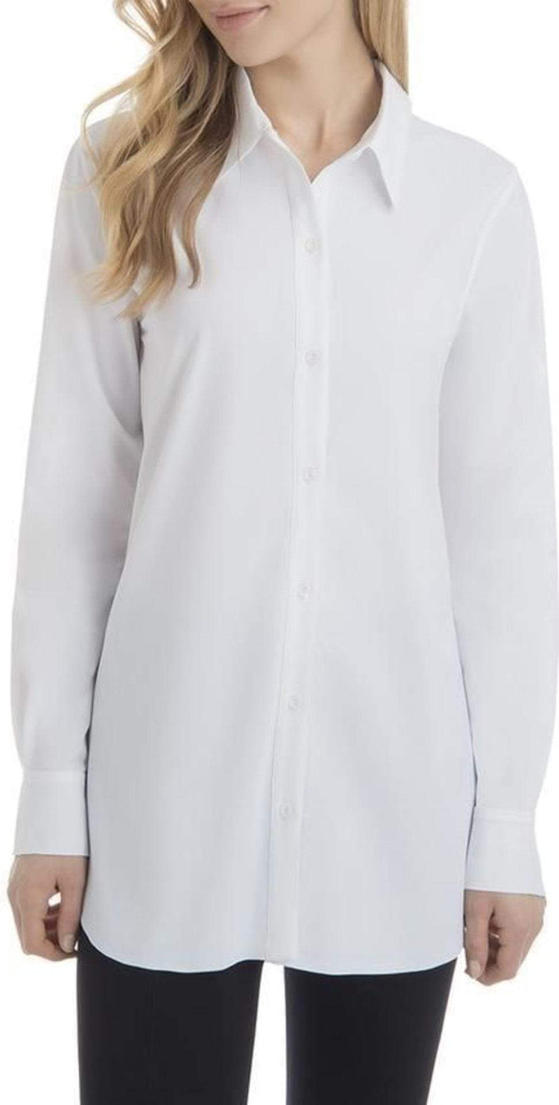 Lysse Tops Blouse Reese Button Up White