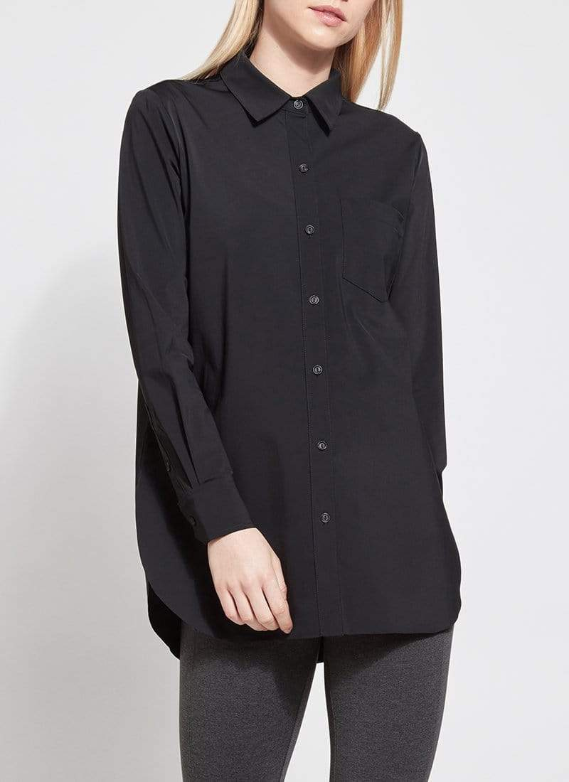 Lysse Tops Blouse Schiffer Shirt Black