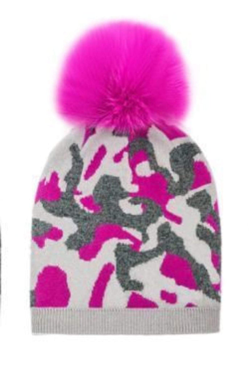 Camouflage Beanie Hot Pink