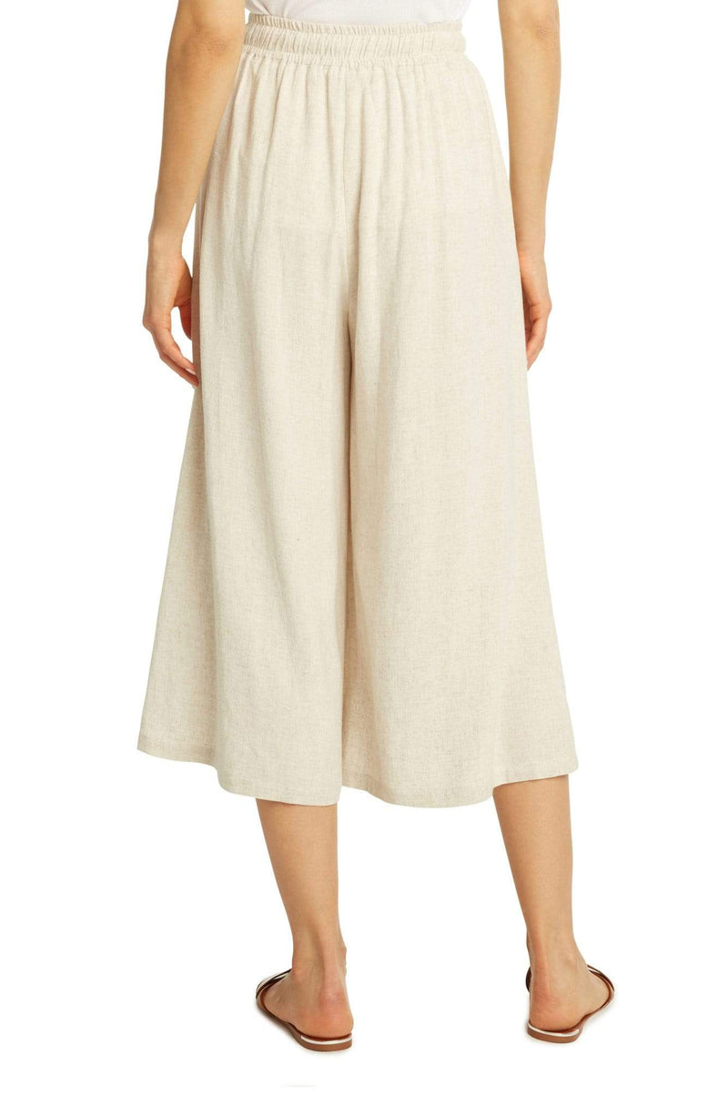 Wide Leg Crop Pants Oatmeal