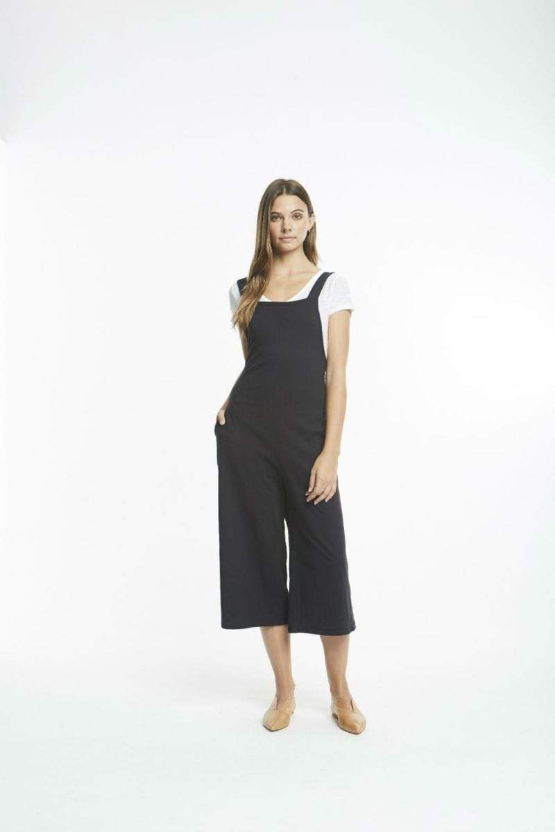 Michelle by Comune Dress Warwick Wide Leg Overall Black